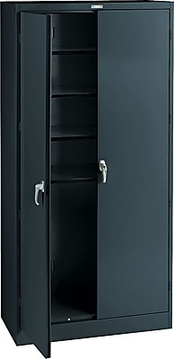 Tennsco Steel Storage Cabinet, Black, 78