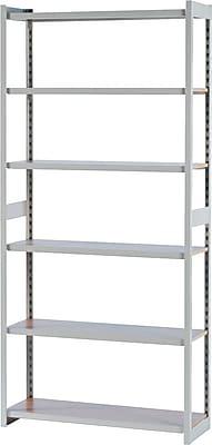 Tennsco Regal Boltless Steel Shelving Starter Set, 6 Shelves, Sand, 76