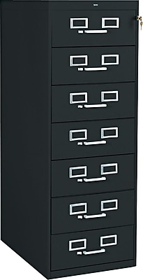 Tennsco 7 Drawer Vertical File, Black,Specialty, 19''W (101216)