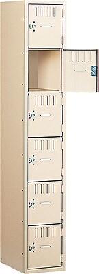 Tennsco Heavy Gauge Steel Box Compartment Lockers, 1 Wide, Sand (BS6121812ASD)