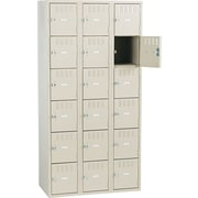 "Tennsco Box Locker, 72""H x 36""W x 19""D, Sand"