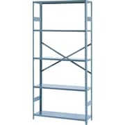 "Tennsco Commercial Steel Shelving, 5 Shelves, Gray, 75""H x 36""W x 12""D"