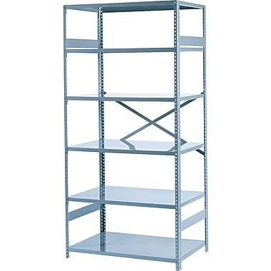 Tennsco Commercial Steel Shelving, 6 Shelves, Gray, 75