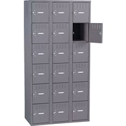 "Tennsco Box Locker, 72""H x 36""W x 19""D, Gray"