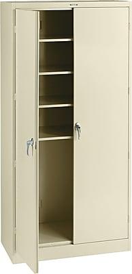 """Tennsco Steel Storage Cabinet, Putty, 78""""H x 36""""W x 18""""D"""