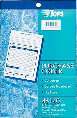 Tops® Purchase Order Books,5-9/16