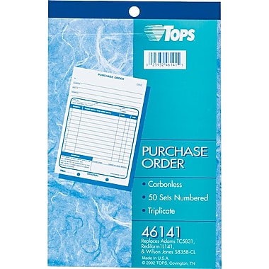 Tops® Purchase Order Books, 5-1/2