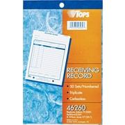 """Tops® Receiving Record Book, 5-1/2"""" x 7-7/8"""", 3 Part"""