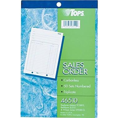 Tops® Carbonless Sales Order Books, 5-1/2