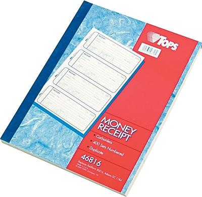 Tops® Carbonless Money & Receipt Books, 2-3/4