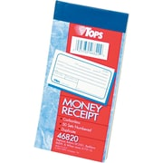 "TOPS® Money/Rent Receipt Book-Multiple Parts, Ruled, 2-Part, White/Canary, 5 3/8"" x 2 3/4"", 1/Ea"