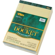 "TOPS® Double Docket Legal Notepad, 8 1/2"" x 11 3/4"", Narrow Rule, 100 Sheets/Pad, 6 Pads/Pack (63376)"
