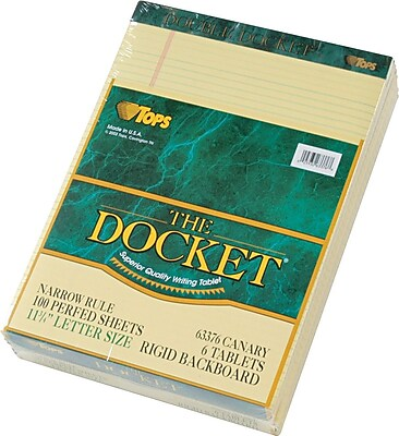 TOPS® Double Docket Legal Notepad, 8 1/2