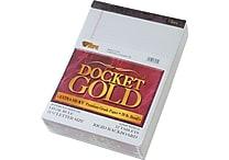 Tops® Docket® Gold Legal Pads; 8-1/2 x 11-3/4', Legal Rule, White, 50 Sheets/Pad, 1 Dozen