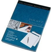 "Docket® Diamond, Premium Stationery Tablet, White, 50 Sheets/Pad, 2 Pads/Box, 8-1/2"" x 11-3/4"""