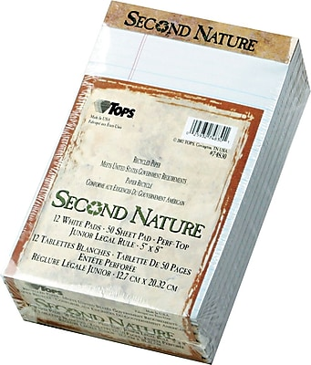 TOPS® Second Nature Legal Notepad, 5