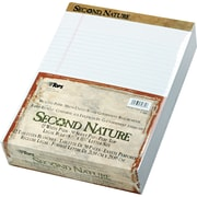 "Second Nature® Legal Notepad, Legal Rule, Perforated, Recycled, 50 Sheets/Pad, 12 Pads/Pack, 8-1/2"" x 11-3/4"""