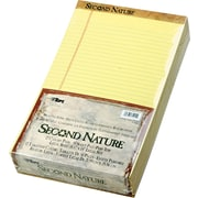 "Second Nature® Legal Notepad, Canary, Perforated, Recycled, 50 Sheets/Pad, 12 Pads/Pack, 8"" x 14"""