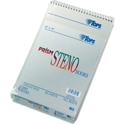 "TOPS® Prism™ Steno Book, Gregg Ruled, 6"" x 9"", 80 Sheets, 4/Pack"