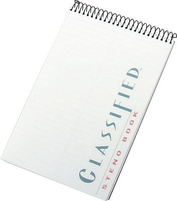 TOPS® Classified™ Steno Book, White, Gregg Ruled, 6