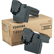 Toshiba T2500 Toner, 7500 Page-Yield, 2/Carton, Black