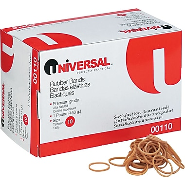 Universal Boxed Rubber Bands, Size 10, 1 1/4