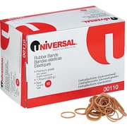 """Universal Boxed Rubber Bands, Size 10, 1 1/4"""" x 1/16"""", 1 lb. Box"""