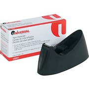 "Universal Desktop Tape Dispenser, 1"" Core, Black"