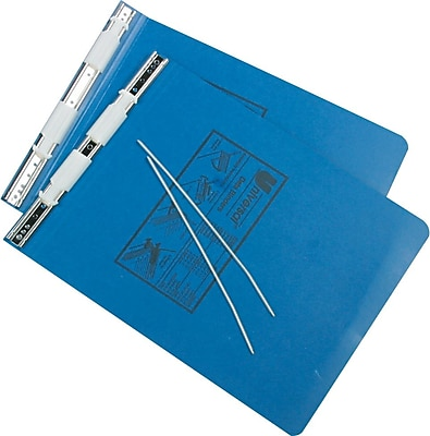 Universal® Pressboard Hanging Data Binder For Unburst Sheets, Blue, 6