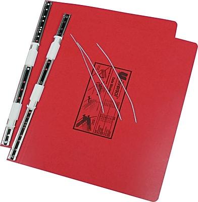 ACCO PRESSTEX® Covers with Storage Hooks Data Binder, Red, 14-7/8