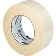 "Premium-Grade Transparent Filament Tape, 48mm x 55m, 3"" Core, 1 Roll"