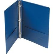 "Universal Economy 1"" 3-Ring Non-View Binder, Royal Blue (UNV31402)"