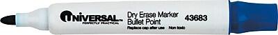 Universal® Dry Erase Marker, Bullet, Blue, 1/Dozen (UNV43683)
