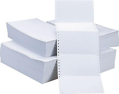 Continuous 4 x 6 Postcards, 4000 White Cards/Ctn