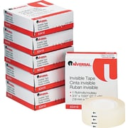 "Invisible Tape, 3/4"" x 1000"", 6 Rolls per Pack"