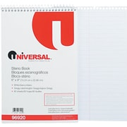 "Universal Wirebound Steno Book, 6"" x 9"", Gregg Ruled, 80 White Sheets/Pd"