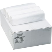 "Webster Industries® Good'nTuff® Economy High Density Can Liners,  56 Gallons, 14 Microns, Natural, 43"" x 46"", 200/Ct"