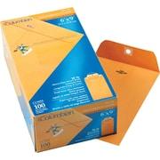 "Columbian Clasp Gummed Envelopes, 6"" x 9"", Brown Kraft, 100/Bx"