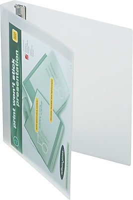 Wilson Jones Print Won't Stick 1-Inch Round Ring View 3-Ring Binder, Clear (43337)