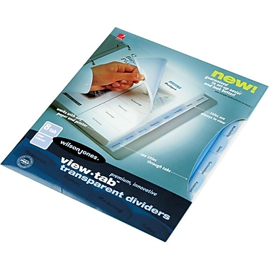 Wilson Jones® 8-Tab Clear Set, Traditional Tab