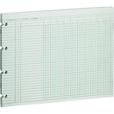 Wilson Jones® Single Page Columnar Sheets, 9 1/4