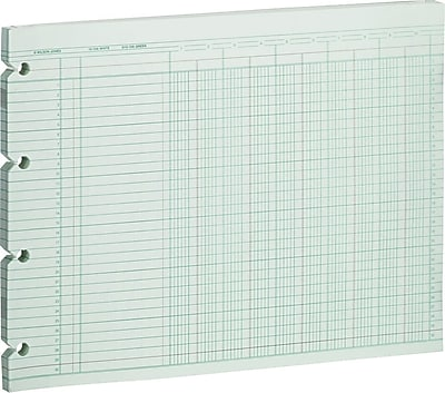 Wilson Jones® Single Page Columnar Sheets, 9 1/4