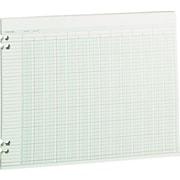 "Wilson Jones Columnar Sheets, Ledger Paper, Ruled, 36 Lines, 24 Columns, Green Paper, 11"" x 14"", 100/Pk"