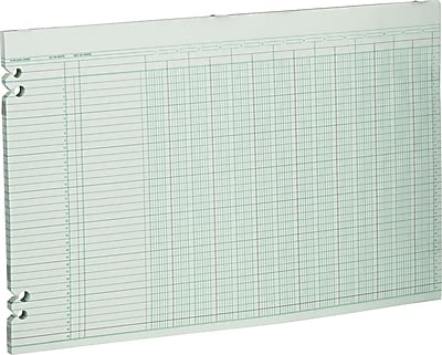 Wilson Jones® Single Page Columnar Sheets, 11