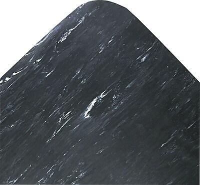Crown Cushion-Step® Rubber Surface Mat, Black, 3' x 5'