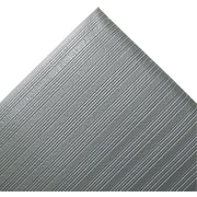 "Crown Ribbed Vinyl Anti-Fatigue Mat, 36"" x 60"", Gray"