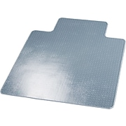 """Deflect-O® SuperMat Chairmats for Medium Weight Carpeting, 45x53"""" Overall, 25x12"""" Lip"""