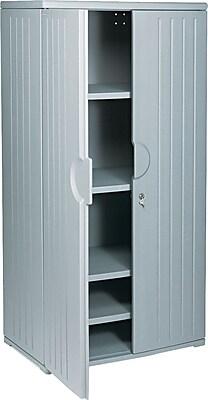 Iceberg Resinite Storage Cabinet, Charcoal, 72