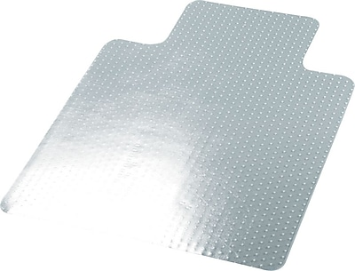 Universal Cleated 48''x36'' Vinyl Chair Mat for Carpet, Rectangular w/Lip (UNV56806)