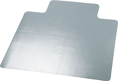 Universal Cleated 60''x46'' Vinyl Chair Mat for Carpet, Rectangular w/Lip (UNV56807)